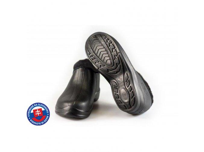 Dámské zateplené boty FLAMEshoes B-2016 černé