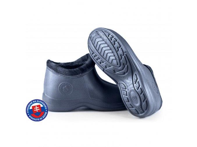 Dámské zateplené boty FLAMEshoes B-2016 modré
