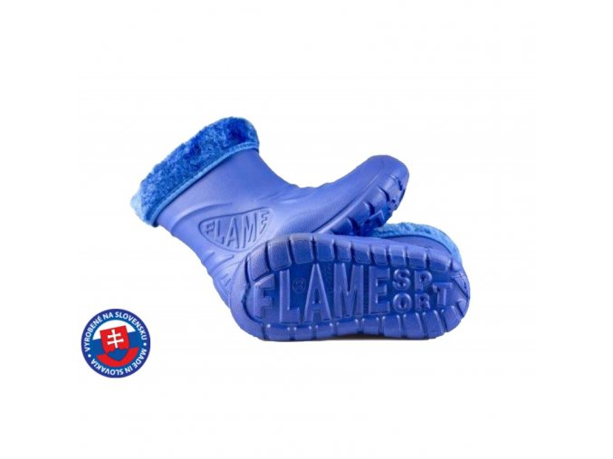 Dětské zateplené boty větší D-3001 FLAMEshoes modré