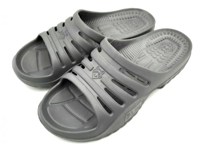 Pánské pantofle FLAMEshoes F-9006 šedá