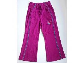 Dívčí tepláky Land fialové - bílý kolibřík