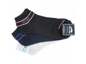 Pánské ponožky 3 páry, vzor sport, tmavší