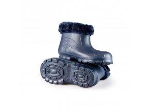 Dětské zateplené boty X-6005 FLAMEshoes tmavě modré