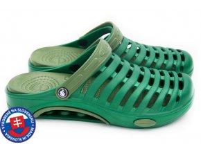Pánské clogsy FLAMEshoes A-1003 zelená/sv. zelená