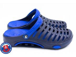 Pánské clogsy FLAMEshoes A-1003 modrá