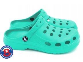 Dámské clogsy FLAMEshoes A-002 water blue