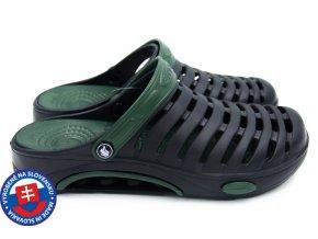 Pánské clogsy FLAMEshoes A-1003 černá/tmavě zelená