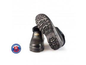 Pánské zateplené boty FLAMEshoes A-1016 černé