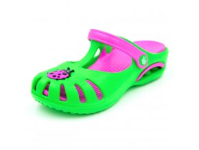 Dětské clogsy FLAMEshoes D-3003 zelené