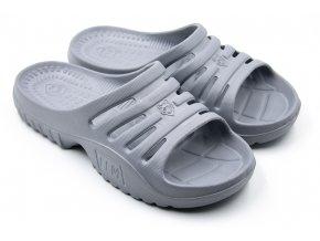 Dámské pantofle FLAMEshoes F-9005 šedé