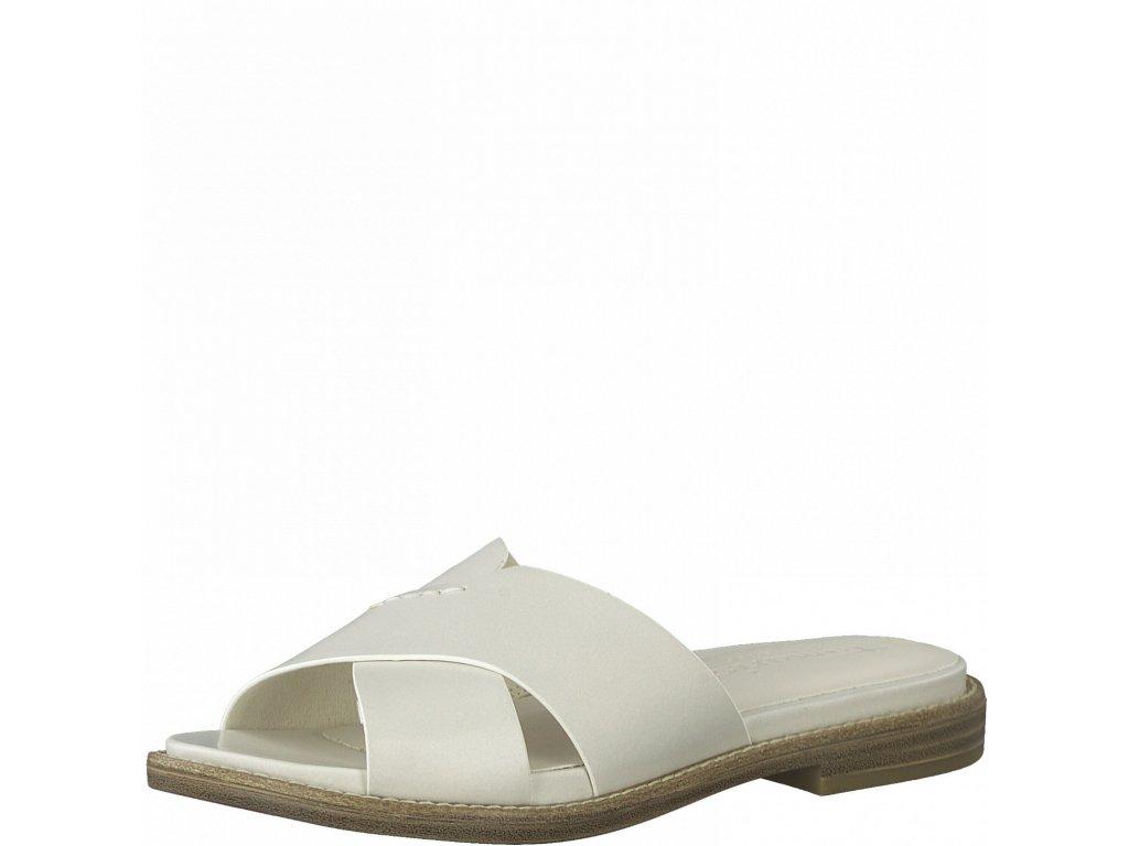 Cream pantofle Tamaris