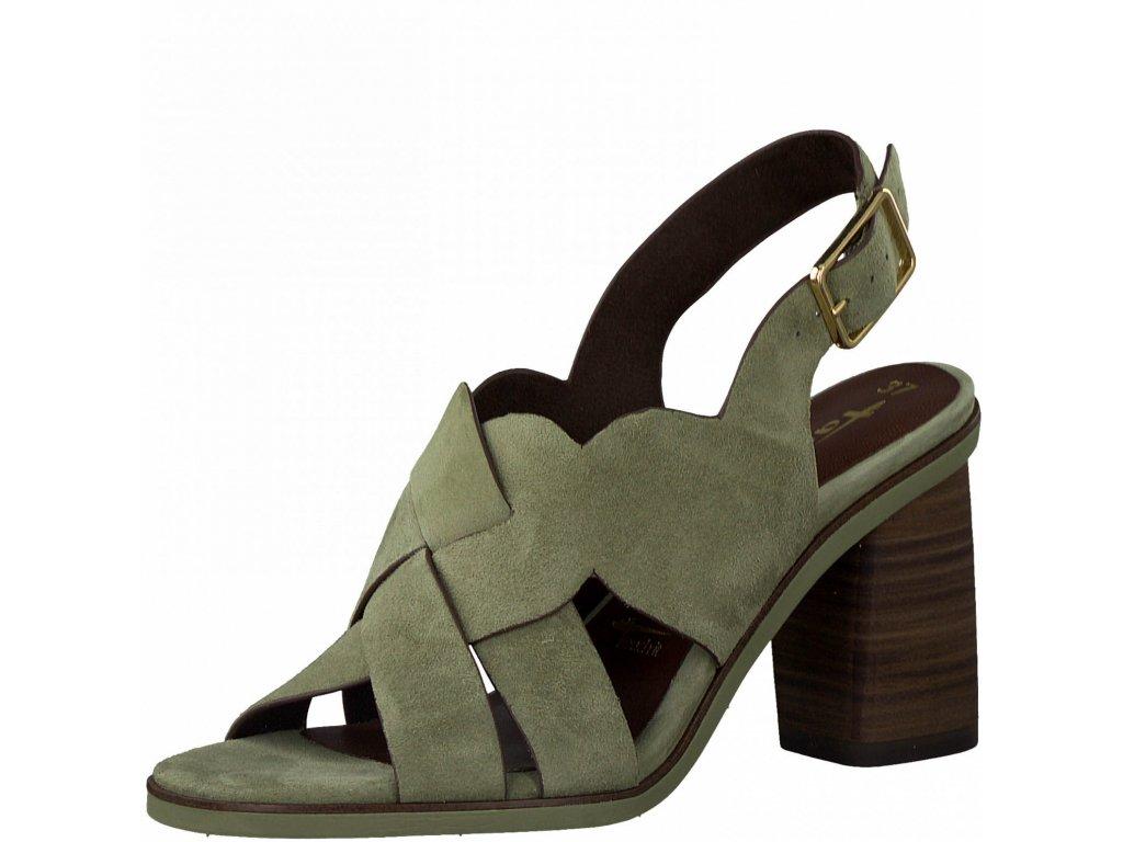 Olivově zelené sandály Tamaris