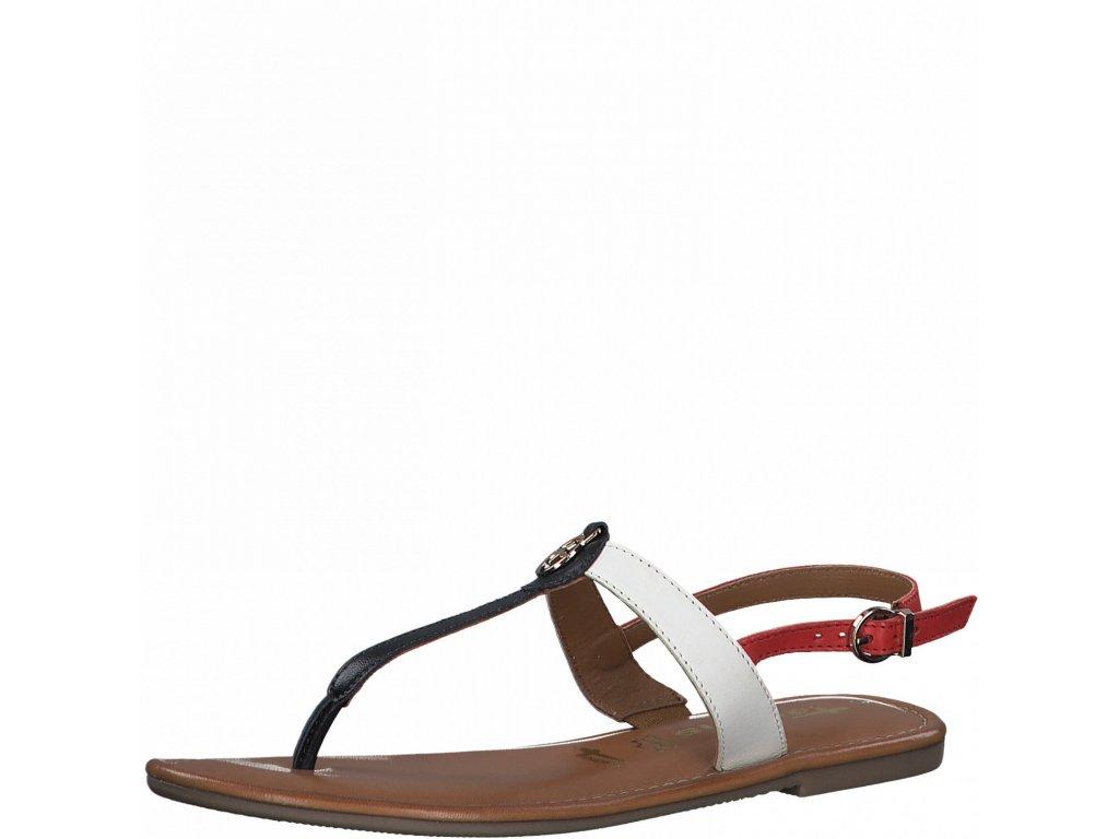 Páskové kožené combi sandály Tamaris