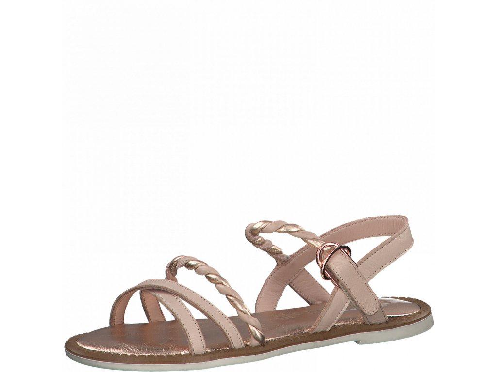 Elegantní rose gold sandály Tamaris