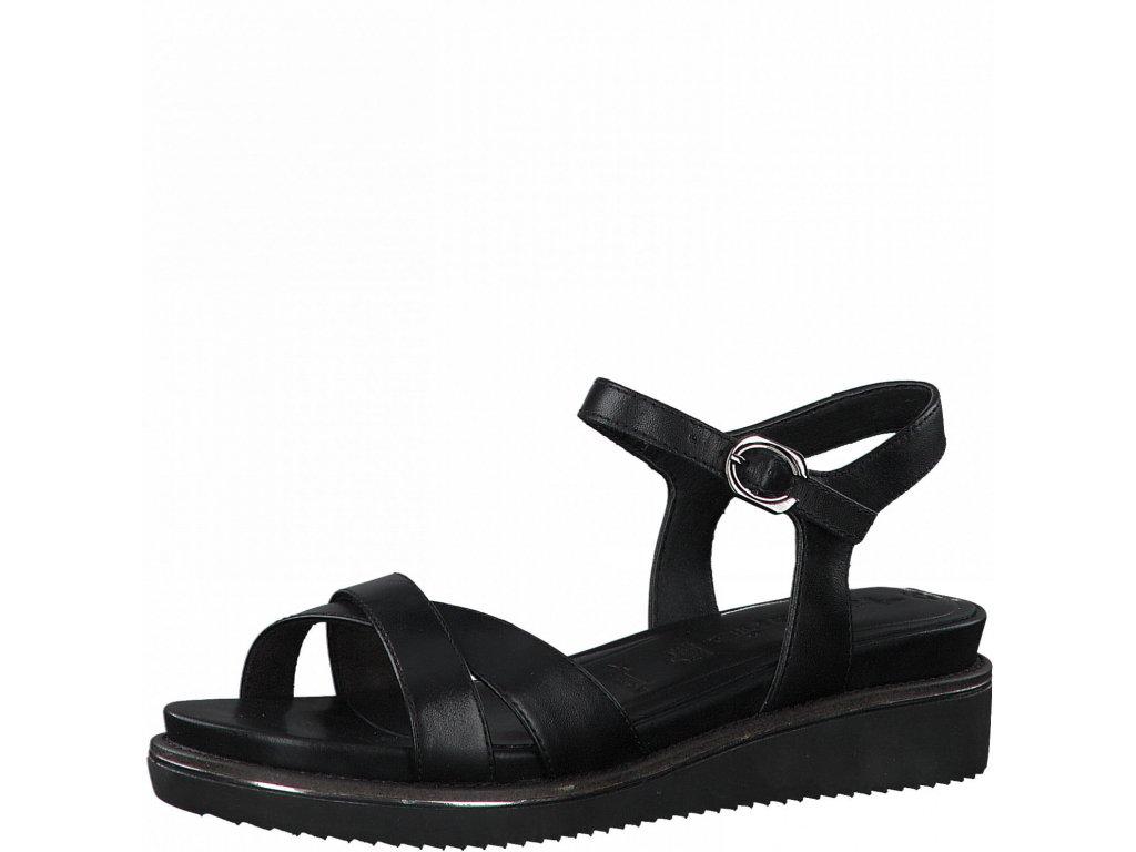 Černé dámské sandály Tamaris