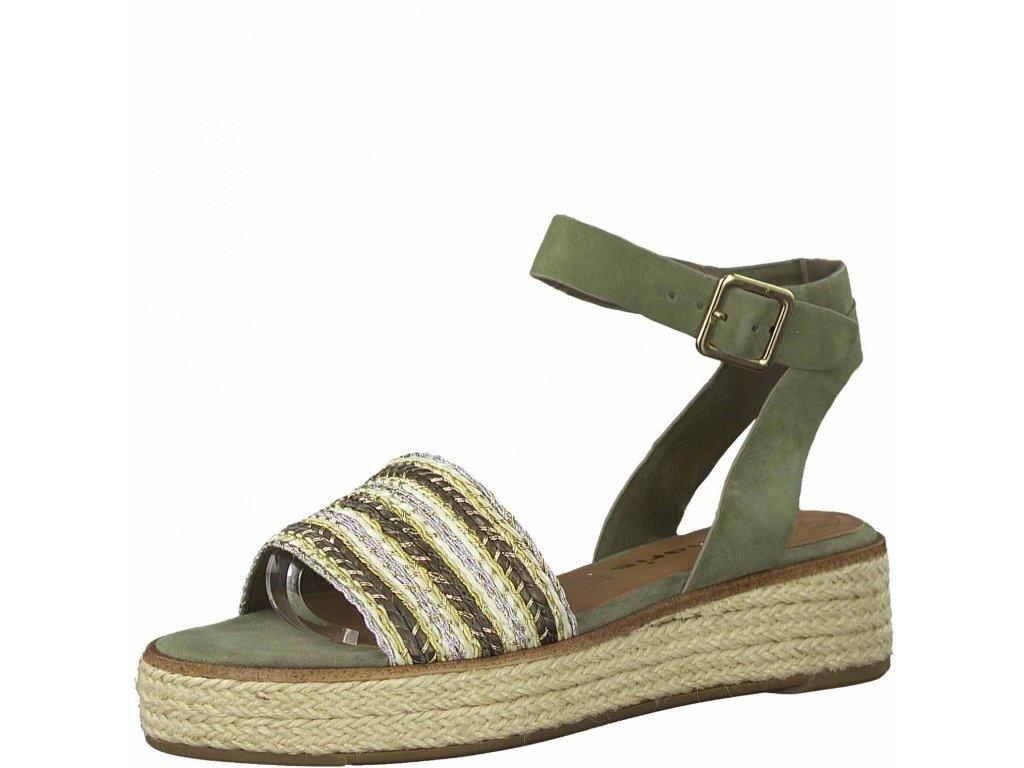 Pistáciové sandály Tamaris