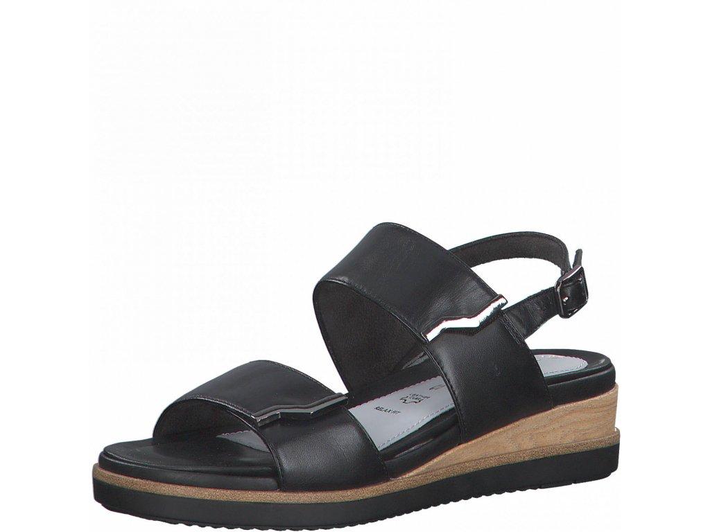 Černé sandály Tamaris na suchý zip