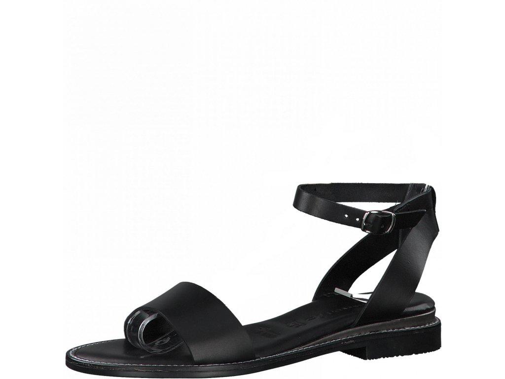 Elegantní černé sandály Tamaris