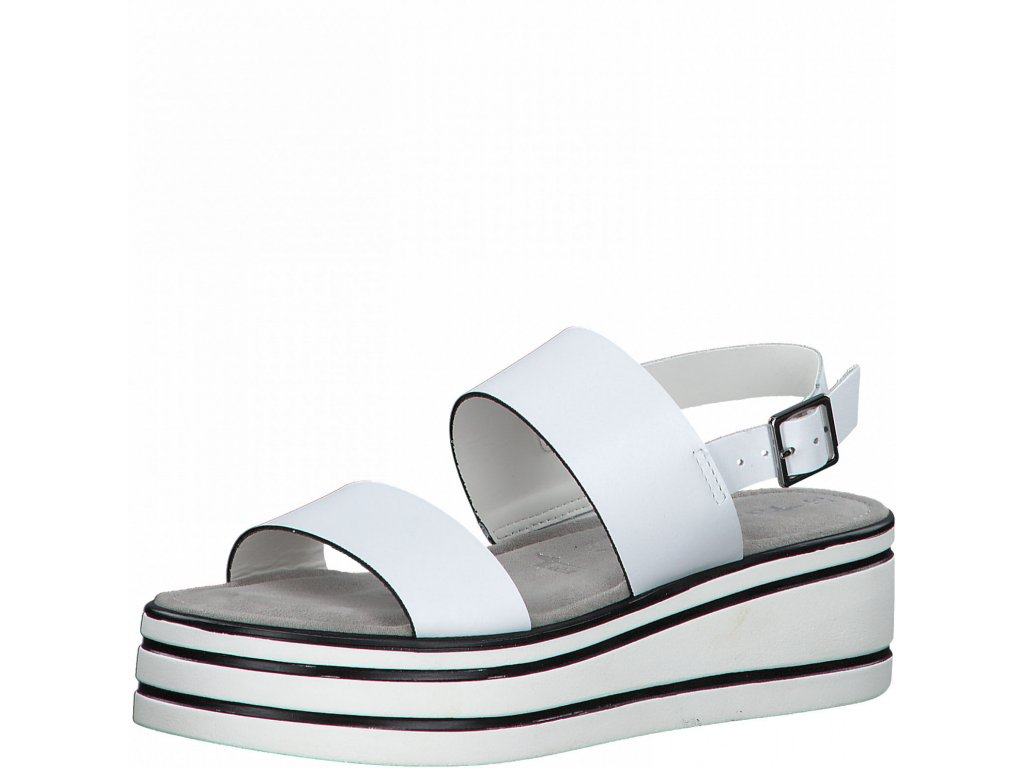 Bílé sandály Tamaris na platformě