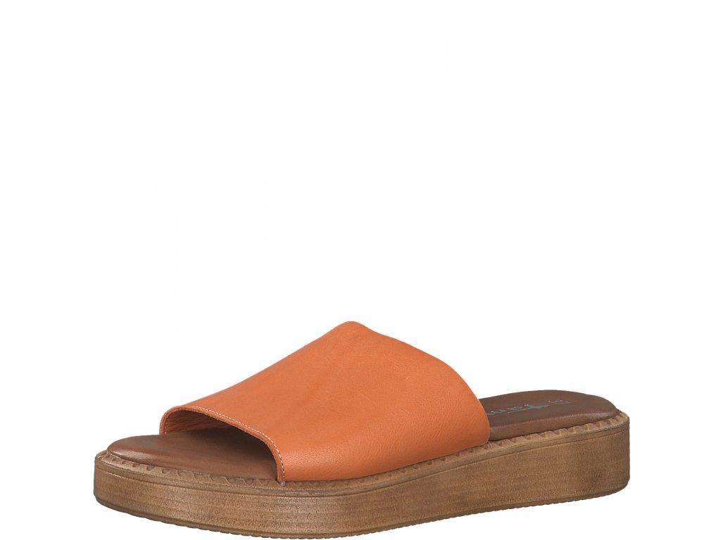 Broskvová kůže dámské pantofle Tamaris