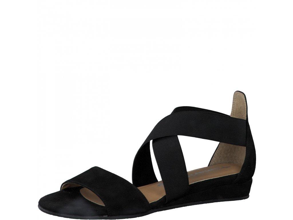 Black uni černé sandály Tamaris