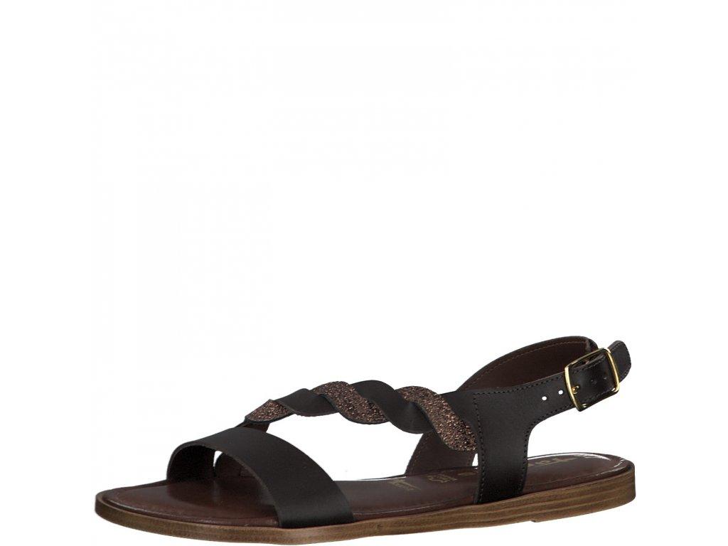 Mocca bronse hnědé sandály Tamaris