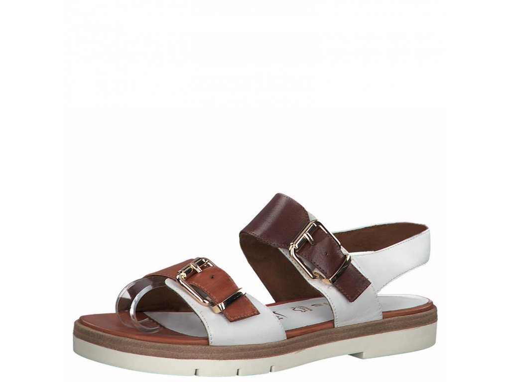 White comb bílé sandály Tamaris,dámské boty,kozačky,polobotky,baleríny,tenisky,mokasíny,lodičky,sandály,espadrilky,sneakersky,pantofle,nazouváky,kabelky,doplňky 3