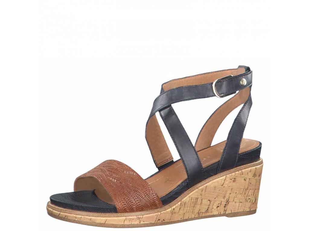 Navy nut hnědo modré sandály Tamaris,dámské boty,kozačky,polobotky,baleríny,tenisky,mokasíny,lodičky,sandály,espadrilky,sneakersky,pantofle,nazouváky,kabelky,doplňky 3