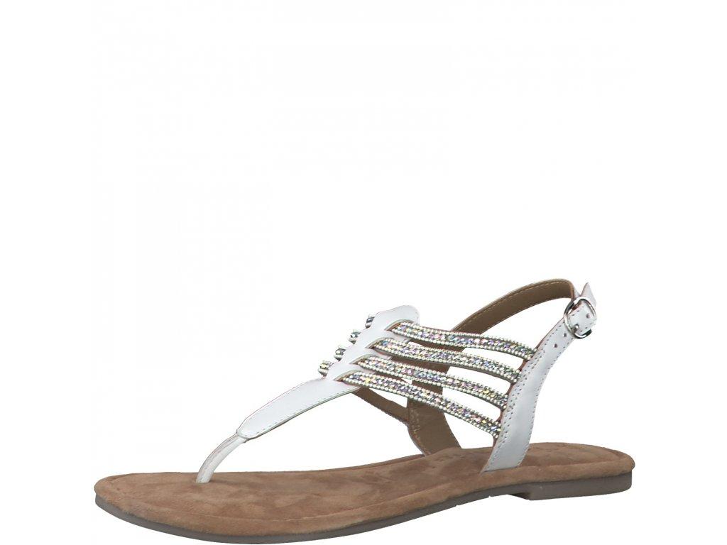 White glam bílé sandály Tamaris
