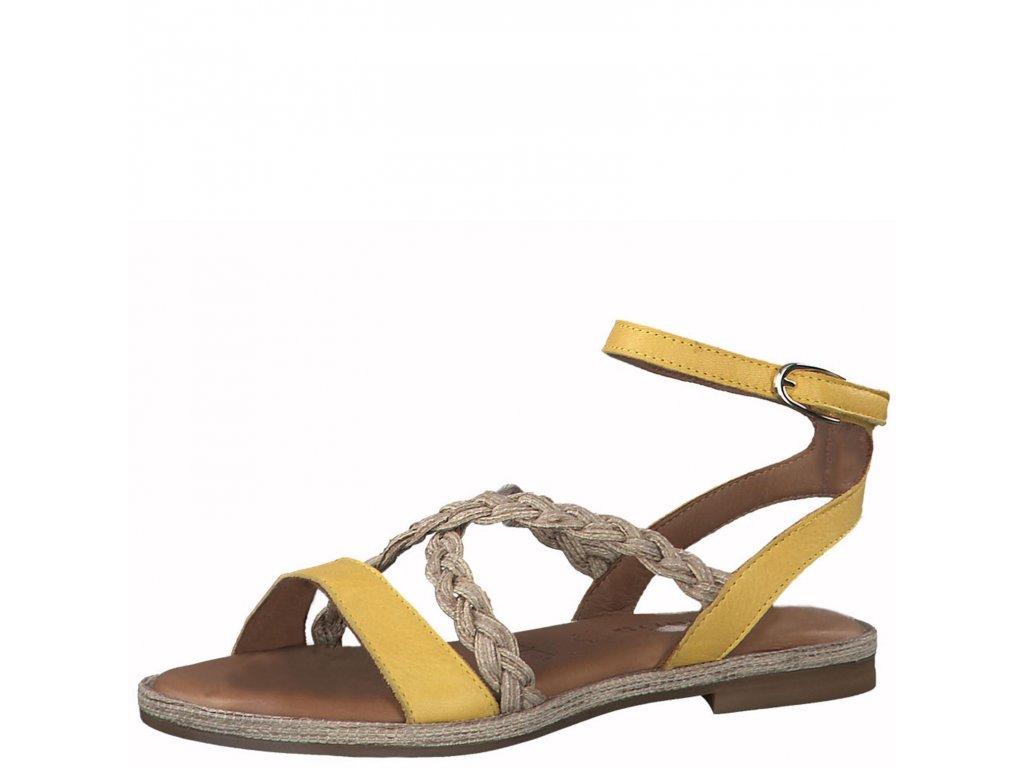 Sun comb žluto hnědé sandály Tamaris,dámské boty,kozačky,polobotky,baleríny,tenisky,mokasíny,lodičky,sandály,espadrilky,sneakersky,pantofle,nazouváky,kabelky,doplňky 3