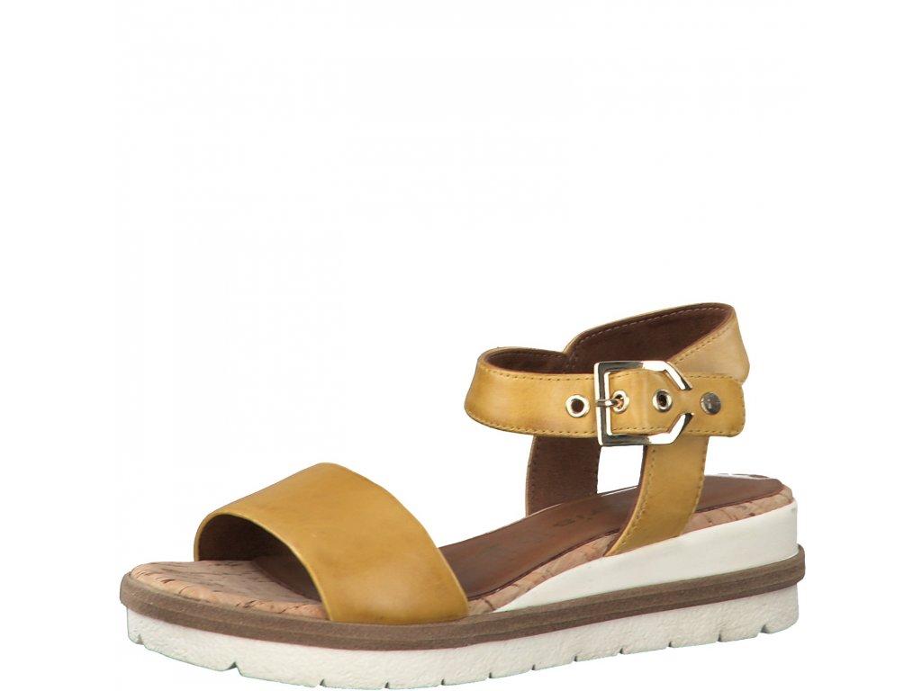 Sun slunečně žluté sandály Tamaris