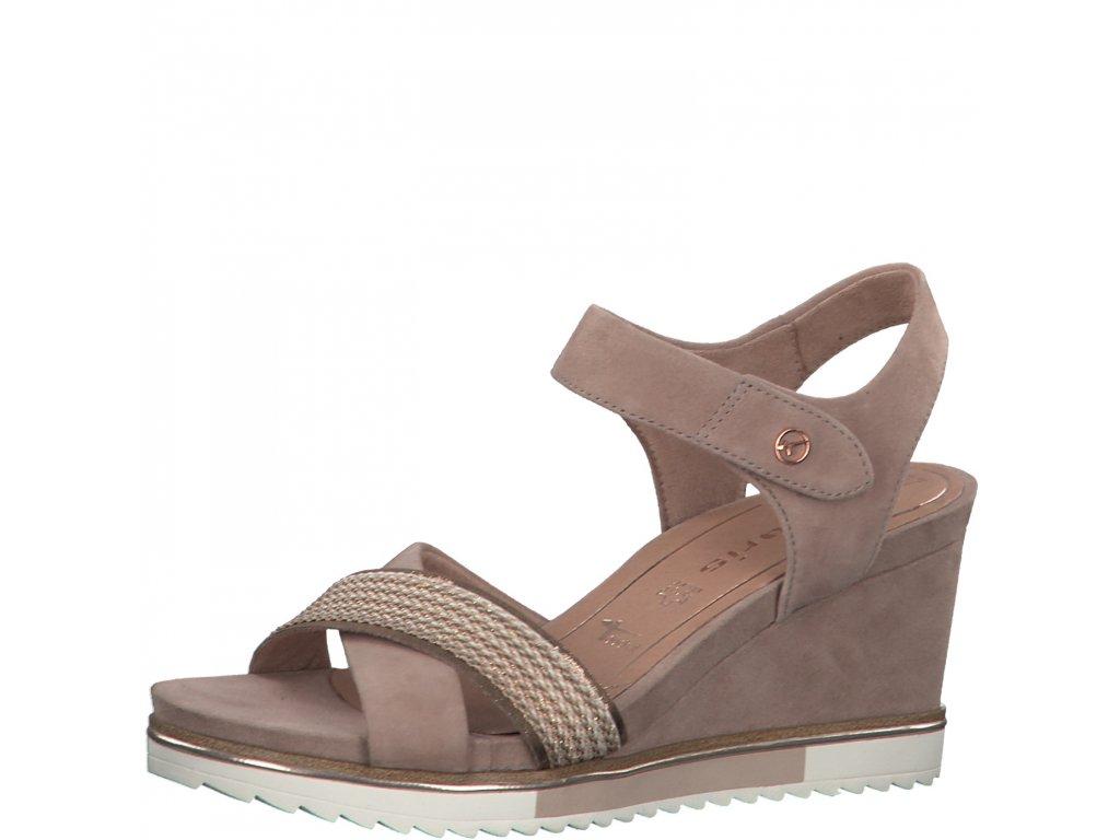 Old rose růžové sandály Tamaris
