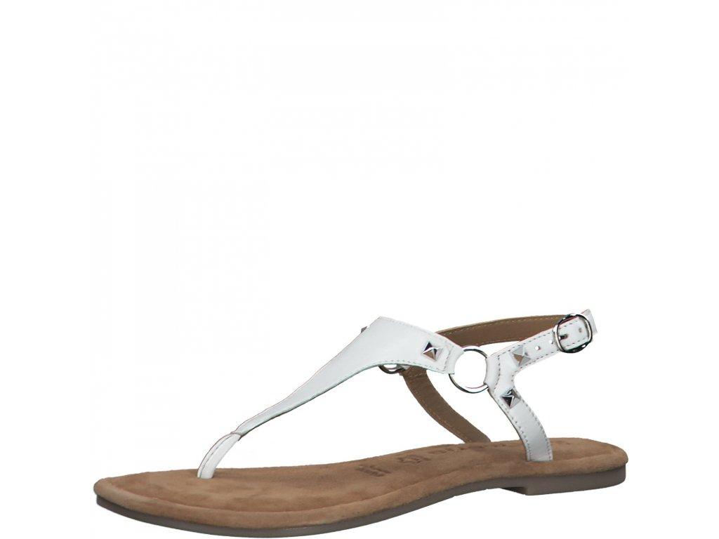 Vzdušné bílé dámské sandály Tamaris