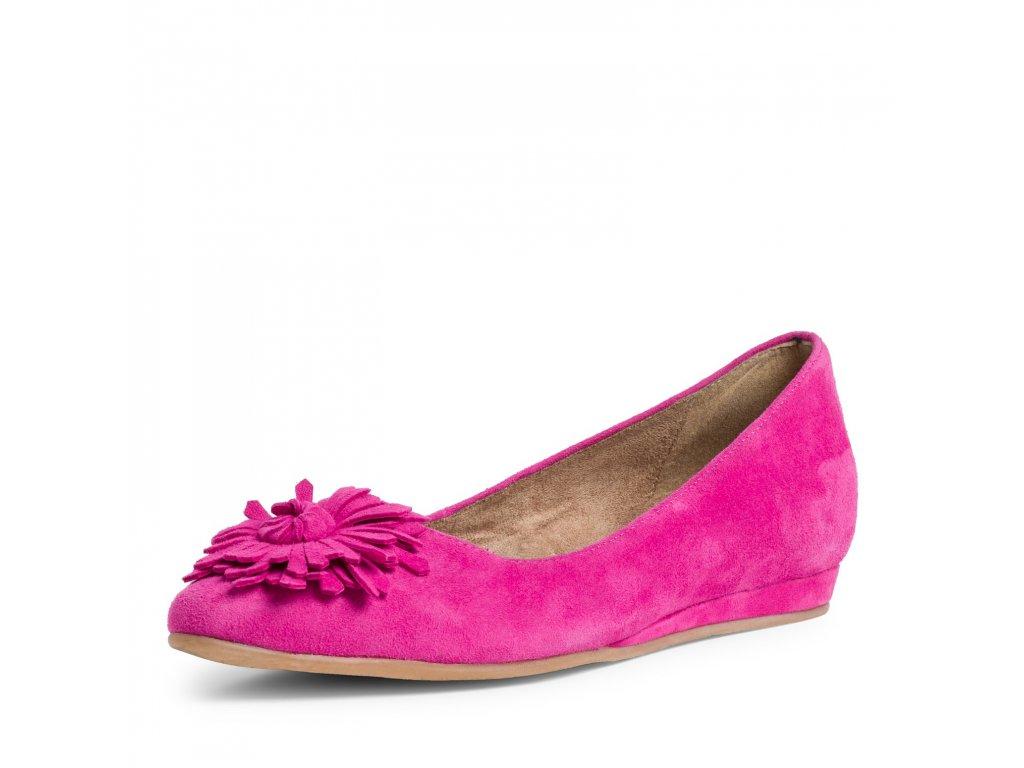 Fuxia růžové stylové lodičky Tamaris