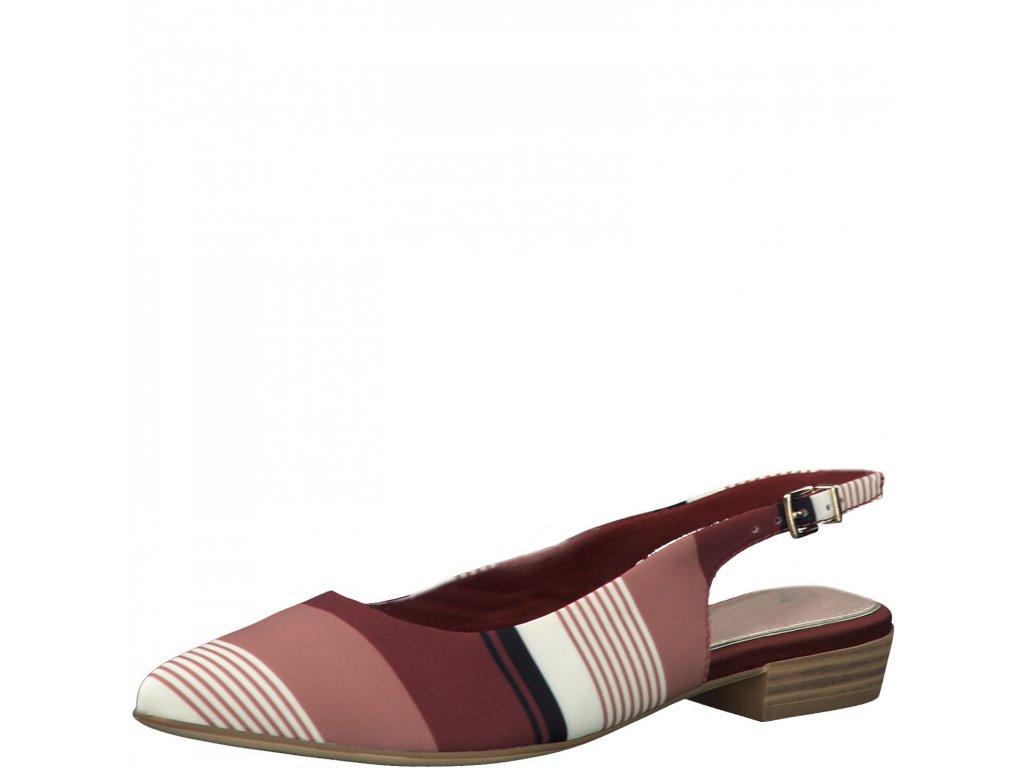 Vícebarevné lodičky Tamaris,dámské boty,kozačky,polobotky,baleríny,tenisky,mokasíny,lodičky,sandály,espadrilky,sneakersky,pantofle,nazouváky,kabelky,doplňky