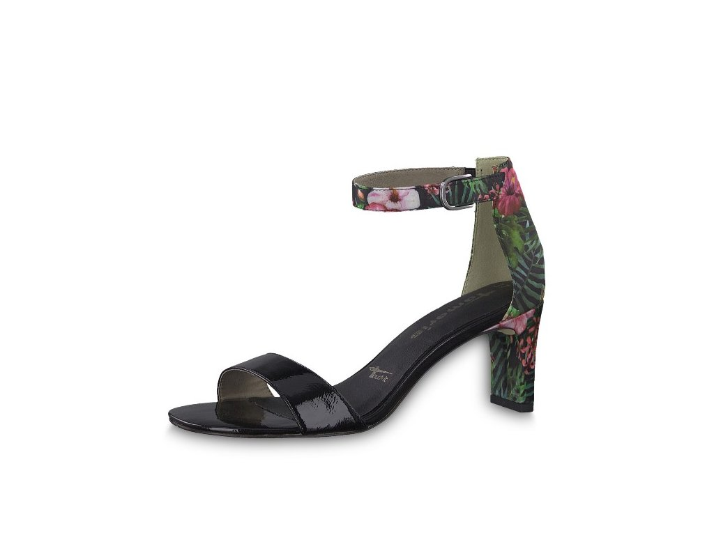 Vkusné sandály Tamaris s květinami