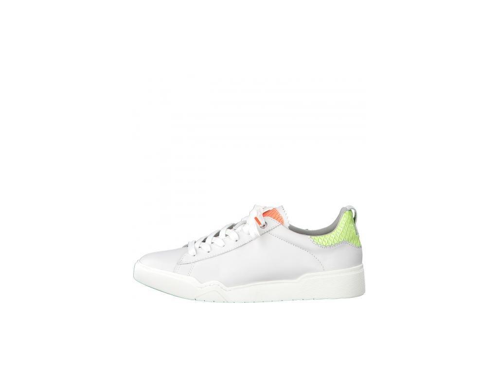 Bílé tenisky Tamaris s neonovými detaily