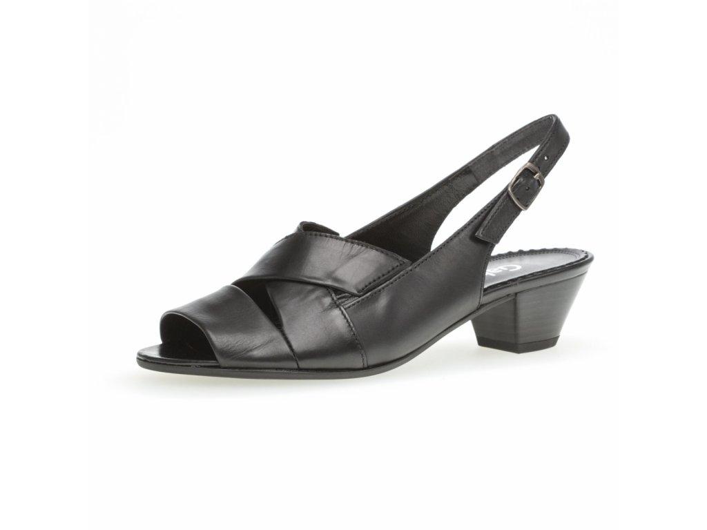 Dámské černé sandály Gabor