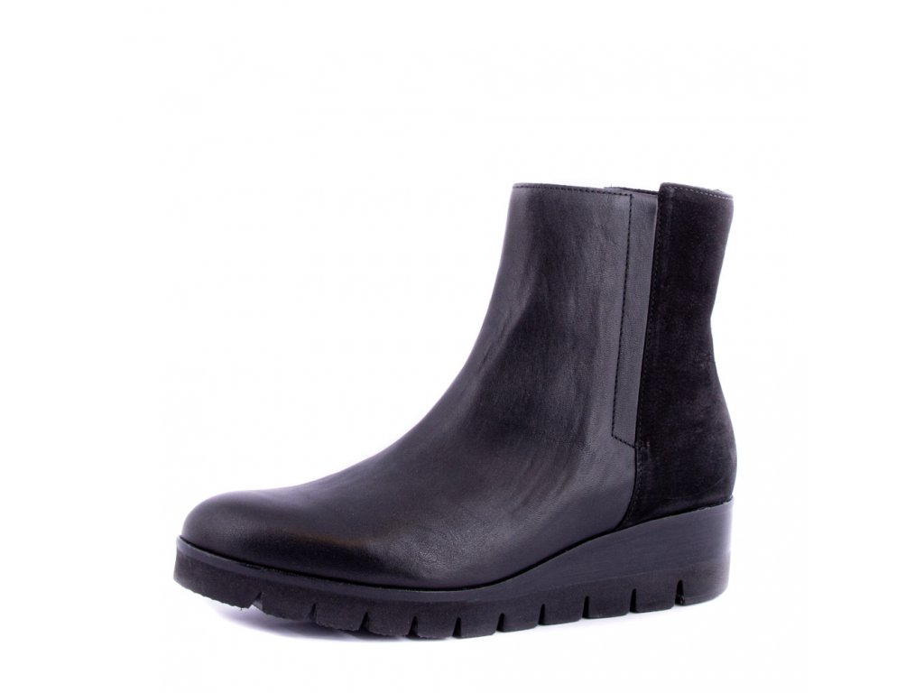 Černé kombi kotníkové boty Gabor