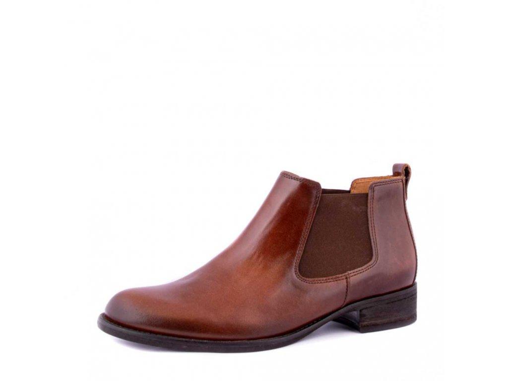 Hnědé kotníkové boty Gabor