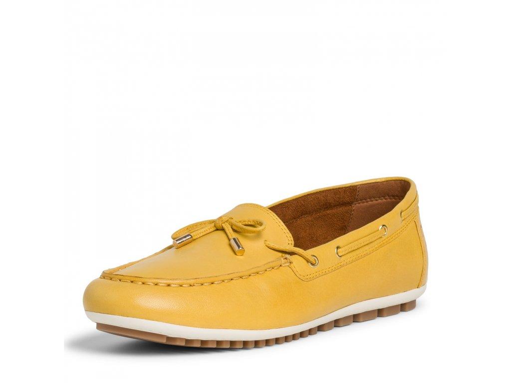 Slunečně žluté dámské mokasíny Tamaris
