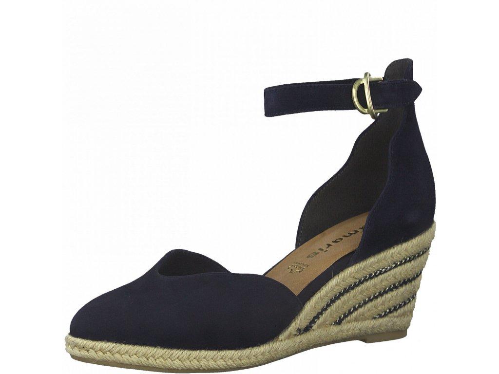 Modré navy sandály Tamaris