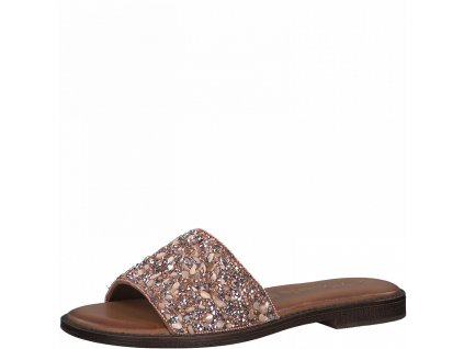 Copper glam pantofle Tamaris
