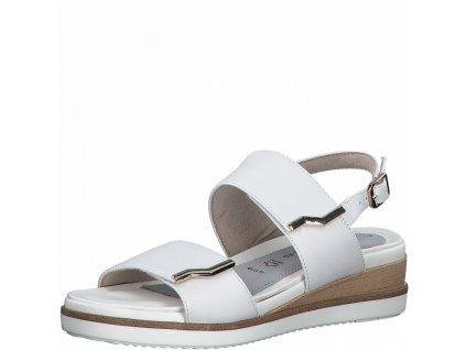 Bílé sandály Tamaris na suchý zip