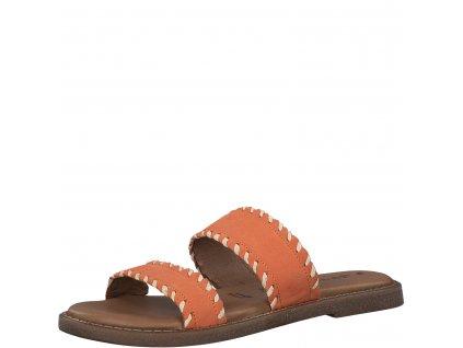 Sunset hnědé dámské pantofle Tamaris