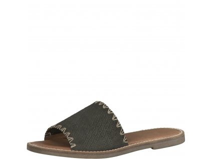 Šedo-hnědé dámské pantofle Tamaris