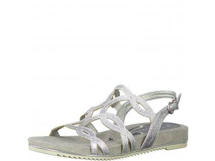 Silver crack stříbrné sandály Tamaris