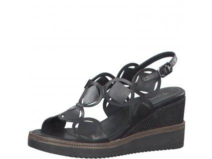 Stylové černé sandály Tamaris