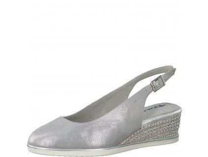 Silver pearl stříbrné dámské lodičky Tamaris