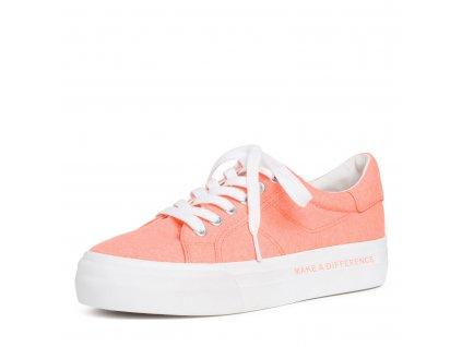 Coral oranžové tenisky Tamaris